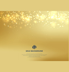 Abstract gold blurred background with bokeh and vector