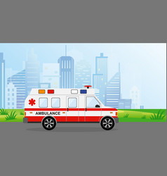 ambulance car in the city vector image