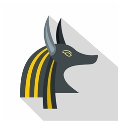 Anubis head icon flat style vector image