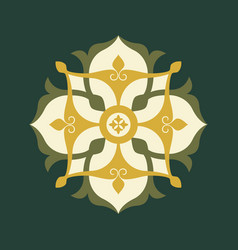 Arabic floral border traditional islamic style vector