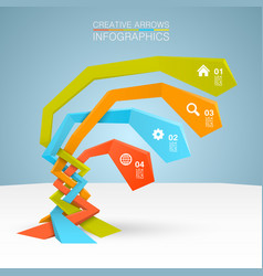arrows business growth vector image