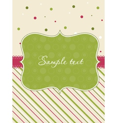 baby girl arrival card with frame vector image