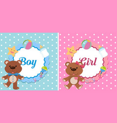 background design for boy and girl vector image
