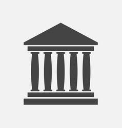 bank building icon in flat style museum on white vector image