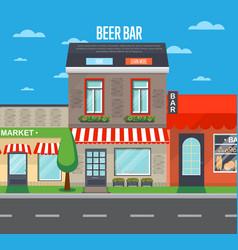 Beer bar banner in flat design vector