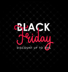 black friday discount banner advertising design vector image