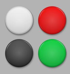 blank glossy badge vector image