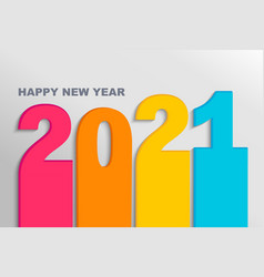 bright banner for new 2021 year on light backdrop vector image