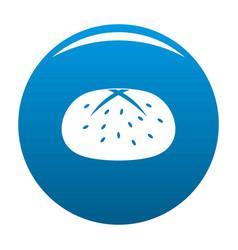 Bun icon blue vector