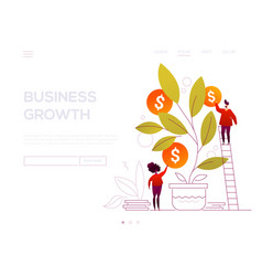 business growth - modern flat design style web vector image