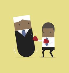businessman punching boss tumbler doll vector image