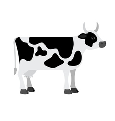 Cartoon cow on white background vector