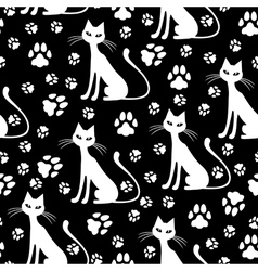 Cat pattern white vector