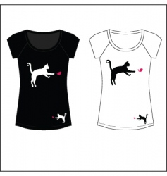 cat woman t shirt print vector image