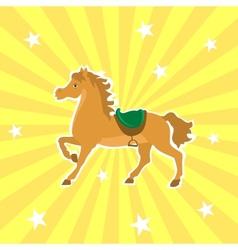 Circus horse vector