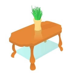 Coffee table icon cartoon style vector
