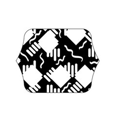 Contour line quadrate with memphis abstract style vector