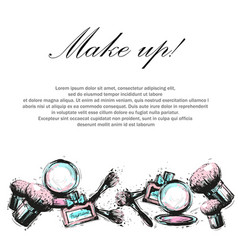 decorative cosmetic makeup beauty salon stylist vector image