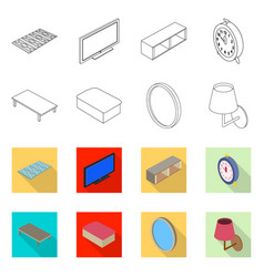 design of bedroom and room logo collection vector image