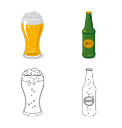 design of pub and bar logo set of pub and vector image