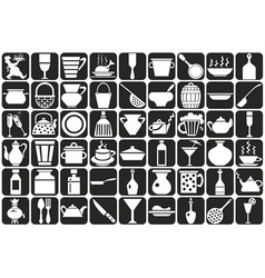 Dishes vector