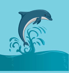 Dolphin jumping vector