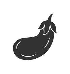 Eggplant glyph icon vector