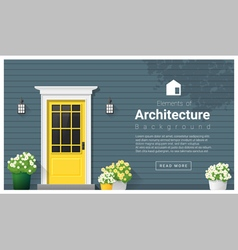 Elements of architecture front door background 11 vector image