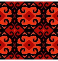 ethnic pattern with stylized Kazakh motifs vector image