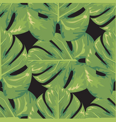 exotic leaf seamless with watercolor style trendy vector image
