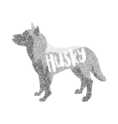 Form of round particles siberian husky dog breed vector image