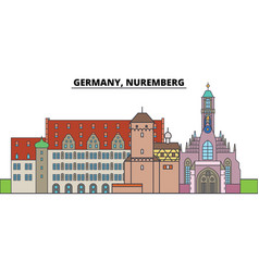 germany nuremberg city skyline architecture vector image