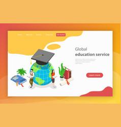 global education service isometric flat vector image