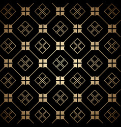Golden and black art deco seamless pattern vector