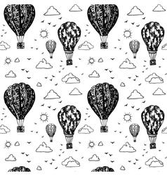 Graphic seamless pattern with balloons vector