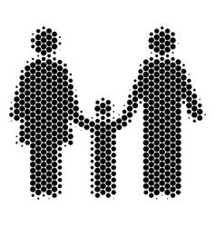 halftone dot family child icon vector image