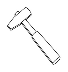 hammer construction tool equipment vector image