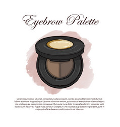 hand drawn color sketch of a eyebrow palette vector image