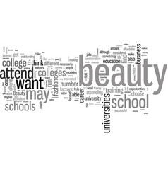 How to find perfect beauty school to attend vector