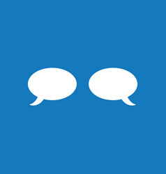 icon concept of two speech bubbles on blue vector image
