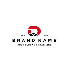 Letter d mountain logo design concept vector