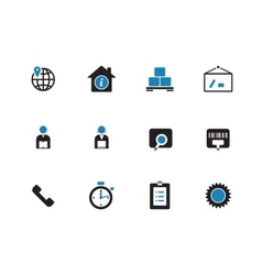 Logistics duotone icons on white background vector