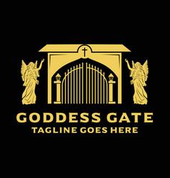 Logo goddess gate vector