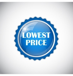 Lowest Price Golden Label vector image vector image