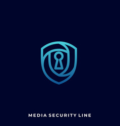 media security design template vector image