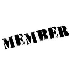 Member stamp rubber grunge vector