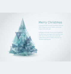 modern christmas card with christmas tree vector image