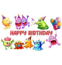 monster birthday vector image