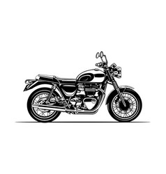 Motorcycle classic silhouette vector