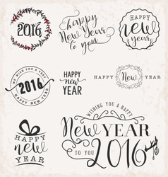 New Year and Christmas Badges and Labels vector